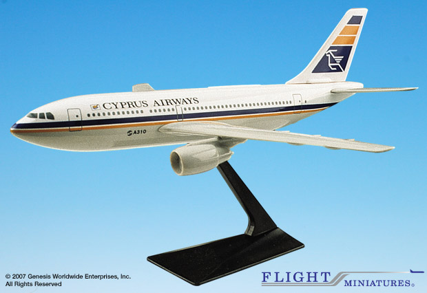 Cyprus Airways A310-2/300 (1:200), Flight Miniatures Snap-Fit Airliners Item Number AB-31020H-003