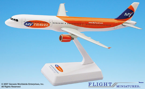 My Travel A321-200 (1:200), Flight Miniatures Snap-Fit Airliners Item Number AB-32100H-010