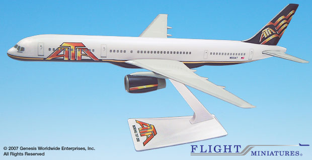 ATA (01-Cur) 757-200 (1:200), Flight Miniatures Snap-Fit Airliners Item Number BO-75720H-051