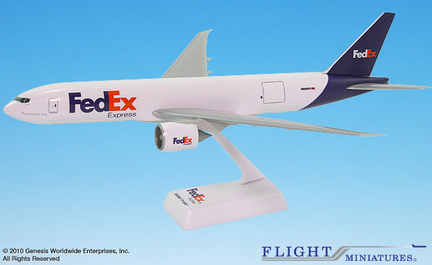 FedEx (05-Cur) 777-200F (1:200), Flight Miniatures Snap-Fit Airliners Item Number BO-7772LH-003