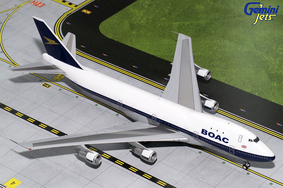 BOAC B747-100 Polished G-AWNF (1:200), GeminiJets 200 Diecast Airliners, Item Number G2BOA654