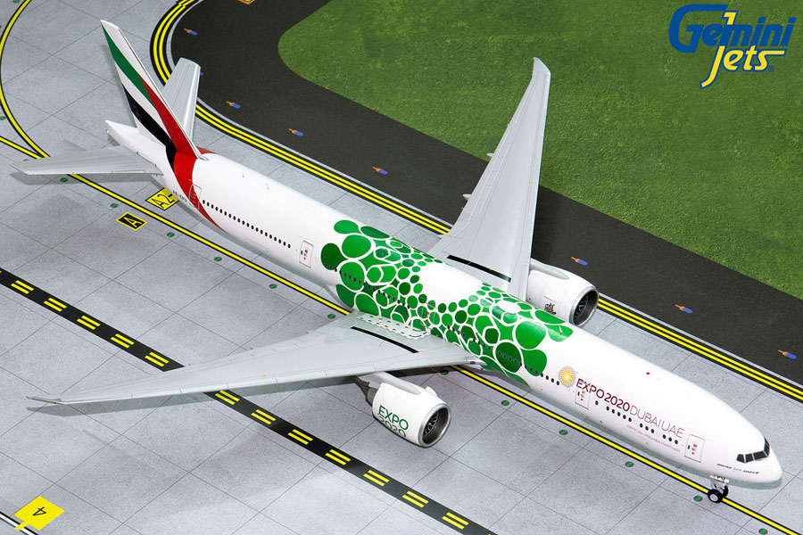 Emirates B777-300ER (Green Expo 2020) A6-EPU (1:200) by GeminiJets 200 Diecast Airliners Model number G2UAE799