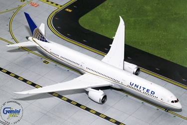 United Airlines B787-10 N78791 (1:200) - New Mould, GeminiJets 200 Diecast Airliners Item Number G2UAL754