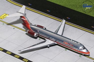 US Air DC-9-30 Maroon Livery, Polished N950VJ (1:200)