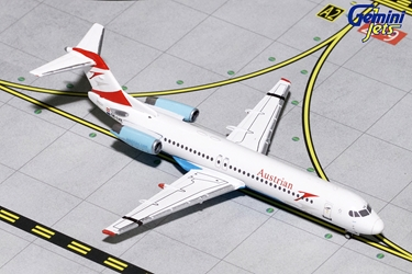 "Austrian Airlines F-100 ""Goodbye Fokker"" OE-LVE (1:400), GeminiJets 400 Diecast Airliners Item Number GJAUA1740"