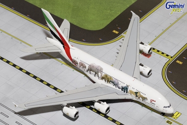 "Emirates A380-800 ""Wildlife #1"" A6-EEI (1:400), GeminiJets 400 Diecast Airliners Item Number GJUAE1550"