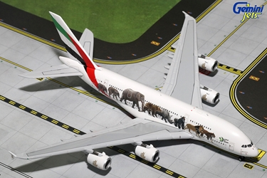 "Emirates A380-800 ""Wildlife #3"" A6-EEQ (1:400), GeminiJets 400 Diecast Airliners Item Number GJUAE1594"