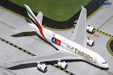 "Emirates A380-800 ""Emirates Football Association Cup"" A6-EER (1:400), GeminiJets 400 Diecast Airliners Item Number GJUAE1595"