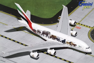 "Emirates A380-800 ""Wildlife #3, New Logo"" A6-EEQ (1:400), GeminiJets 400 Diecast Airliners Item Number GJUAE1663"