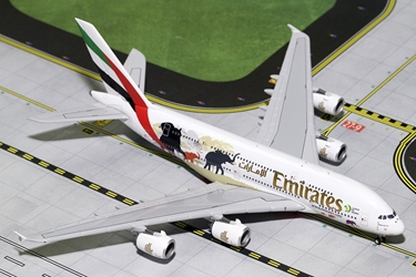 "Emirates A380-800 ""Wildlife #2"" New Logo A6-EER (1:400), GeminiJets 400 Diecast Airliners Item Number GJUAE1668"