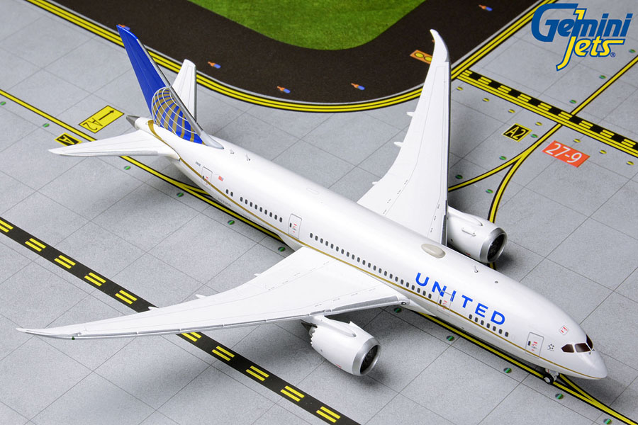 United B787-8 N27908 (1:400) by GeminiJets 400 Diecast Airliners Item Number: GJUAL1790