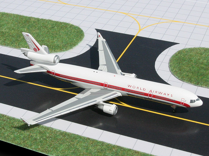 World Airways MD-11, Retro Livery (1:400), GeminiJets 400 Diecast Airliners, Item Number GJWOA599