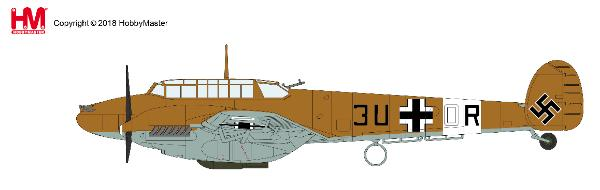 BF 110E-7 ,3U+OR, 7./ZG 26, Libya 1942 1:72 - Preorder item, order now for future delivery, Hobby Master Diecast Airplanes Item Number HA1815