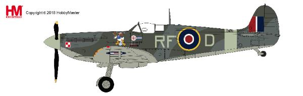 Spitfire Vb ,RF-D/EN951, flown by Sqn. Leader Jan Zumbach, 303 Sqn., RAF, summer 1942 1:48, Hobby Master Diecast Airplanes Item Number HA7850