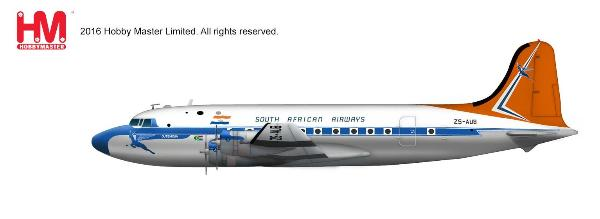 South African Airways Douglas DC-4 (1:200) - Preorder item, order now for future delivery, Hobby Master Diecast Airplanes Item Number HL2026