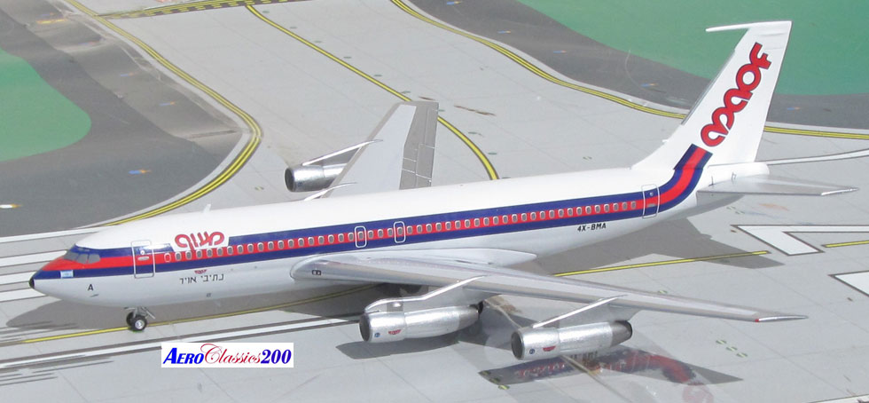 MAOF Airlines B720B 4X-BMA (1:200), AeroClassics Models Item Number AC2MG0316