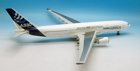 "Airbus A330-200 F-WWCB House Colors (1:200) ""More then 1000 A330 Delivered"", InFlight 200 Scale Diecast Airliners Item Number IF3320716"