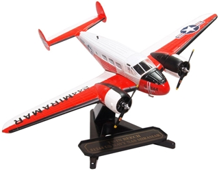 Beech UC-45J (Beech 18) Expeditor NAS Miramar, U.S. Navy, 1963-1972 (1:72) by Oxford Diecast 1:72 Scale Models Item Number: 72BE003