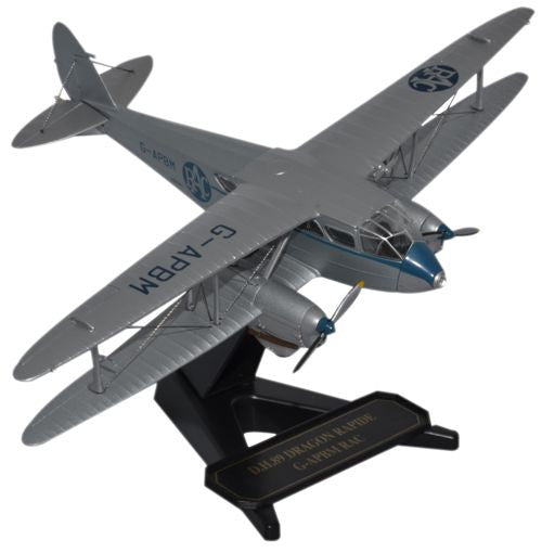 de Havilland DH.89 Dragon Rapide, Royal Automobile Club Aerial Patro (1:72), Oxford Diecast 1:72 Scale Models, Item Number 72DR009
