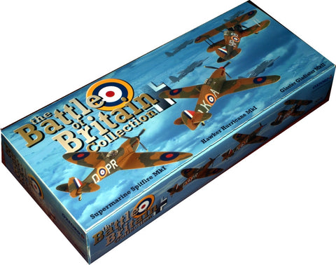 Battle of Britain 75th Anniversary Collection, Gladiator Mk.II (247 Sqn), Hurricane Mk.I (87 Sqn) & Spitfire Mk.I (609 Sqn), 1940, Oxford Diecast 1:72 Scale Models, 72SET01A