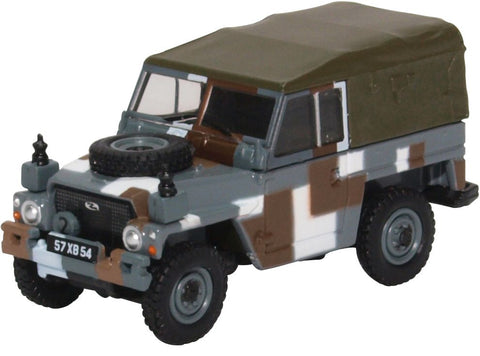 "Land Rover 1/2-Ton ""Lightweight"" (Canvas), British Army ""Berlin Infantry Brigade"" Urban Camouflage Scheme, 1980s (1:76 OO Scale) by Oxford Diecast Military Vehicles"