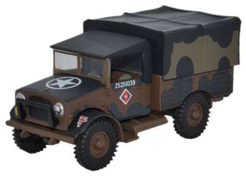 "Bedford MWD Truck British Army, ""Mickey Mouse"" Camoflauge (1:76), Oxford Diecast 1:72 Scale Models Item Number 76MWD001"