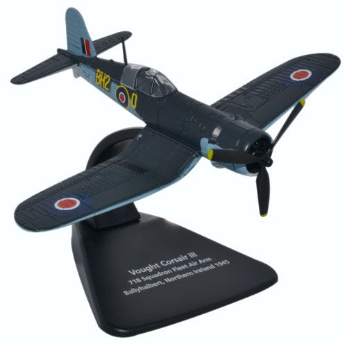 Vought Corsair III, 718 Squadron, Royal Navy Fleet Air Arm, Ballyhalbert, Northern Ireland, 1945, Oxford Diecast 1:72 Scale Models, Item Number AC070