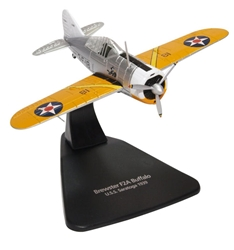 Brewster F2A-1 Buffalo VF-3, U.S. Navy, USS Saratoga CV-3, 1939 (1:72), Oxford Diecast 1:72 Scale Models, Item Number AC082