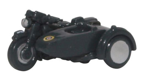 BSA Motorcycle with Sidecar, Royal Air Force (1:148 N Scale) by Oxford Diecast Military Vehicles