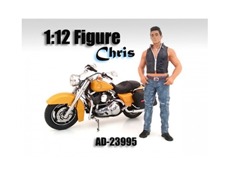 Biker Chris Figure For 1:12 Scale Motorcycles