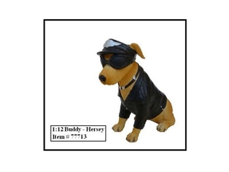 "Bikers Dog ""Buddy Hersey"" Figure For 1:12 Models"