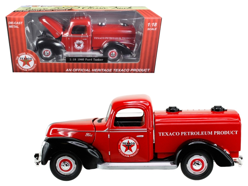 "1940 Ford Tanker ""Texaco"" Red 1/18 Diecast Model Car by Beyond Infinity"