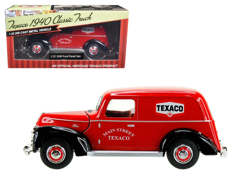 "1940 Ford Panel Van ""Texaco"" Red 1/32 Diecast Model Car by Beyond Infinity"