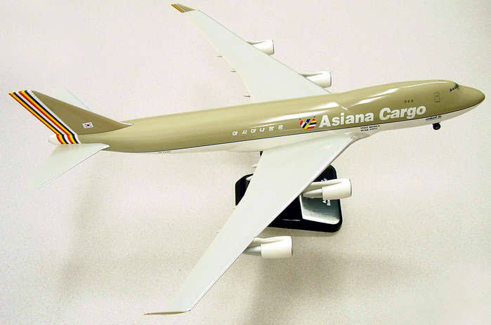 "Asiana 747-400F Cargo ""1990s Livery"" (1:200) by Hogan Wings Collectible Airliner Models Item Number HG2155G"