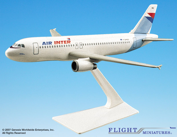 Air Inter France A320-200 (1:200), Flight Miniatures Snap-Fit Airliners Item Number AB-32020H-015