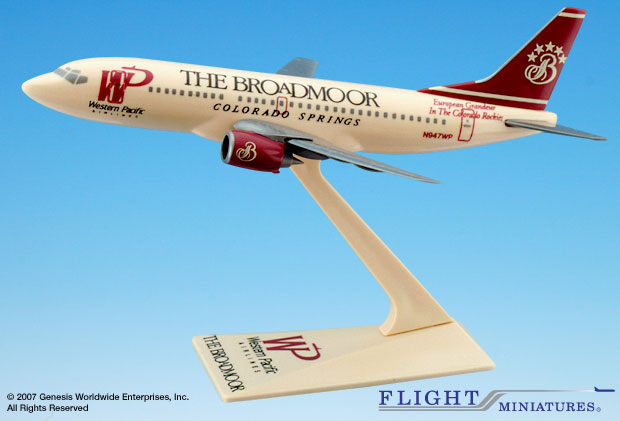 "Western Pacific 737-300 ""Broadmoor"" (1:200), Flight Miniatures Snap-Fit Airliners, Item Number FMWPC002"