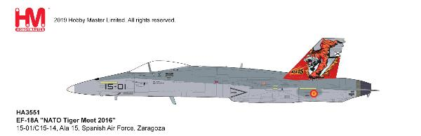 EF-18A Hornet Die Ala 15, Spanish Air Force, Zaragoza (1:72) by Hobby Master Diecast Airplanes