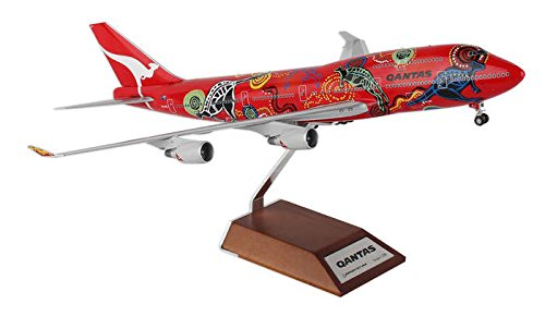 "Qantas B747-400 ""Wunala Dreaming II"" VH-OEJ with Stand (1:200) by JC Wings Diecast Airliners Item: JC2QFA923"