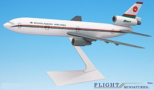 Biman Bangladesh (85-Cur) DC-10 (1:250), Flight Miniatures Snap-Fit Airliners, Item Number DC-01000I-025