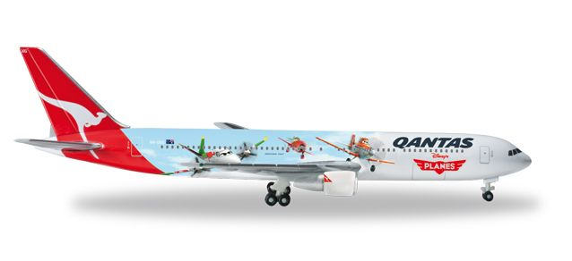 "Qantas 767-300 (1:500) ""Disney Planes Livery"" VH-OGG, Herpa 1:500 Scale Diecast Airliners Item Number HE526562"