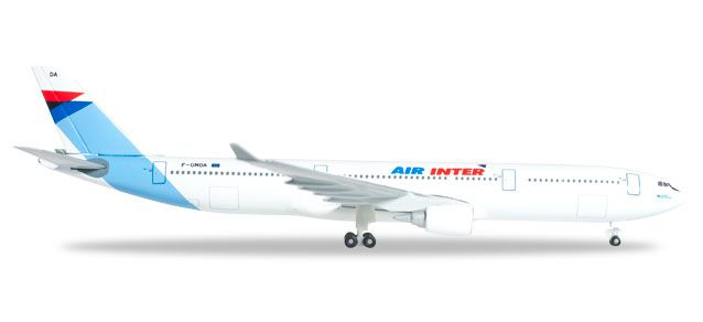 "Air Inter A330-300 (1:500) ""F-GMDA"", Herpa 1:500 Scale Diecast Airliners Item Number HE526760"