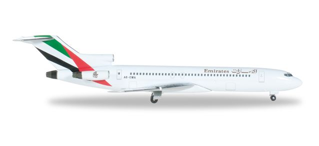 Emirates 727-200 A6-EMA (1:500), Herpa 1:500 Scale Diecast Airliners Item Number HE526968