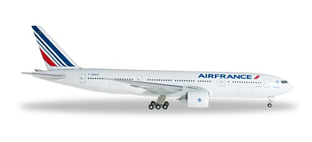Air France 777-200 F-GSPZ (1:500), Herpa 1:500 Scale Diecast Airliners Item Number HE527248