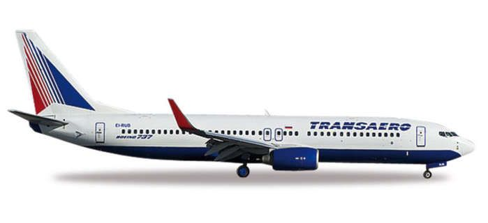 Transero 737-800 EI-RUB (1:500), Herpa 1:500 Scale Diecast Airliners Item Number HE527668
