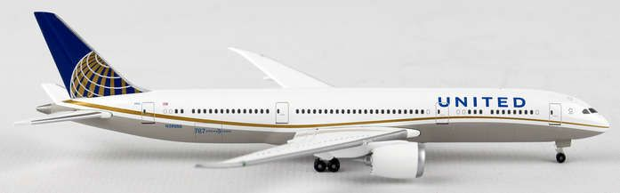 "United 787-9 ""N38950"" (1:500), Herpa 1:500 Scale Diecast Airliners Item Number HE528238"
