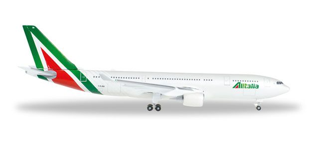 Alitalia A330-200 I-EJGA (1:500) New Livery, Herpa 1:500 Scale Diecast Airliners Item Number HE528924