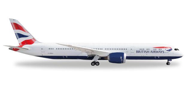 British Airways 787-9 G-ZBKA (1:500), Herpa 1:500 Scale Diecast Airliners Item Number HE528948