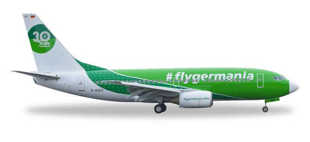 "Germania Boeing 737-700 ""30 Years"" D-AGER (1:500), Herpa 1:500 Scale Diecast Airliners Item Number HE529518"