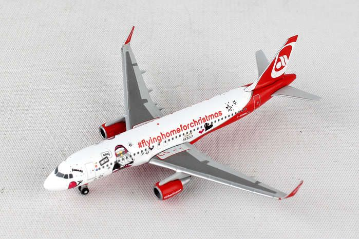 "Air Berlin Airbus A320 - ""Lindt Hello - Flying Home for Christmas (V)"" D-ABNM (1:500), Herpa 1:500 Scale Diecast Airliners Item Number HE529709"