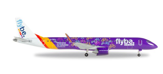 "Flybe ERJ-195 ""Welcome To Yorkshire"" G-FBEJ (1:500), Herpa 1:500 Scale Diecast Airliners Item Number HE529792"